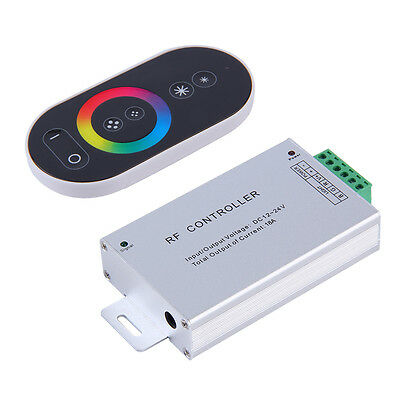 6 Key RGB DC 12 24V Touch Panel Aluminum Wireless LED RF Remote Controller YT
