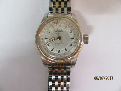Oris 7558 Big Crown Stainless Steel and Gold Plated Ladies Automatic Wrist Watch