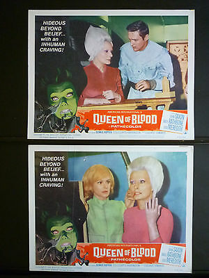 1966 Queen Of Blood - 5 Lobby Cards - Aip Horror Sci-Fi - Curtis Harrington