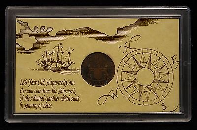 1808 186 Year-Old Shipwreck Coin Of The Admiral Gardner Ship