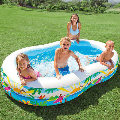Paddling Pool Inflatable Outdoor Garden Family Kids Summer Swimming Fun Ages 3+