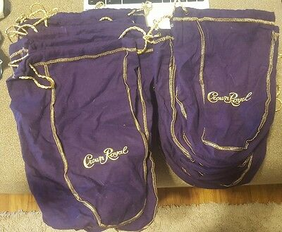 Crown Royal Bags Purple 1L Perfect for gifts and crafts