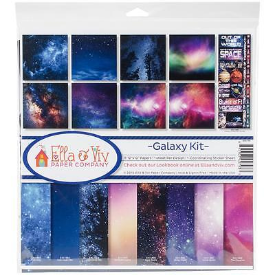 "Ella & Viv 'Galaxy Kit' Collection Kit 12""X12"" Scrap-Set 8 Papiere 30,5x30,5 cm"