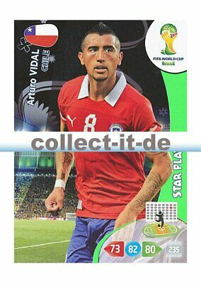 Panini Adrenalyn XL World Cup 2014 - 72 - Arturo Vidal - Star Player