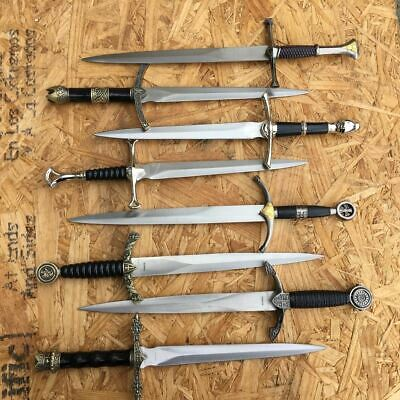 Flea Set 8 x Assorted Fixed Blade Daggers Medieval Style New With Scabbards
