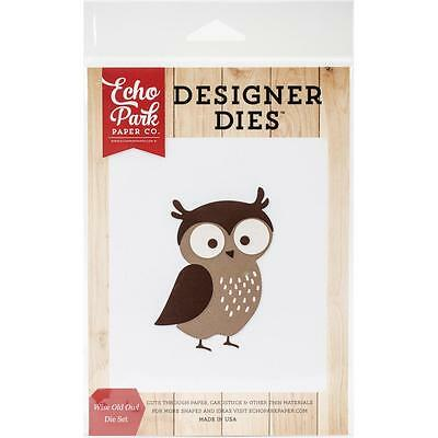 Echo Park Fall Is In The Air Designer Dies:  Owl Stanzschablonen Eule