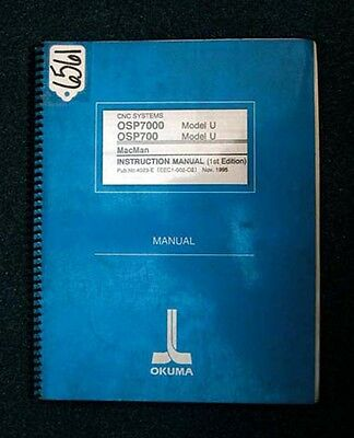 Okuma Instruction Manual for CNC Systems: 4023-E (EEC1-002-02) Inv 6561