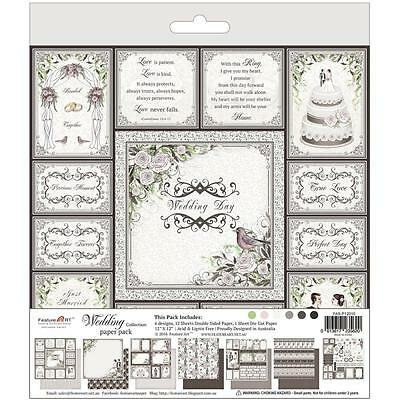 "Feature Art Wedding Paper Pad 12""X12"" 6 Designs/2 Each + 1 Die Cut Sheet 30,5"