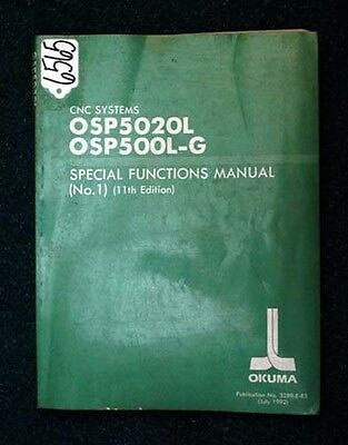 Okuma Special Functions Manual for CNC Systems: OSP5020L, OSP500L-G