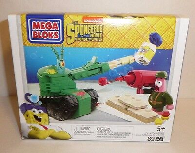 Spongebob Squarepants Mega Bloks Set Pickle Tank Attack Patrick Movie SEALED New
