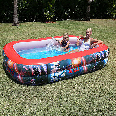Inflatable Paddling Pool Star Wars Outdoor Garden Family Kids Summer Swimming