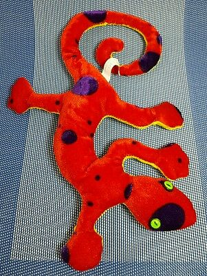 "Geert Gecko Plush Lizard Wishpets Red Yellow Reptile Magnetic Feet 12 "" 2005"