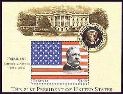 Liberia 21st President Of The US - Chester A. Arthur S/S