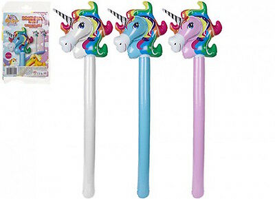 Inflatable Unicorn Bopper Hobby Horse Ride On Prop Festival Fancy Dress Kids