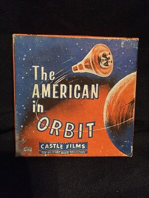 Vintage 8mm Castle Films The American in Orbit #190 Edition Film & Box