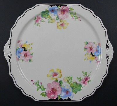 """New Price - The Harker Pottery Co. 12"""" Floral Plate"""