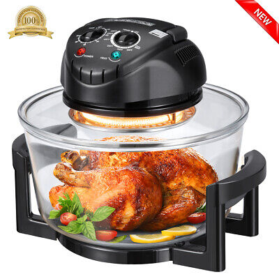 12 Quart 1200W Multifunction Halogen Infrared Convection Countertop Oven Kitchen