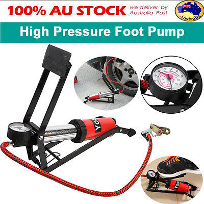 High Pressure Foot Tire Tyre Air Pump Bike Bicycle Ball Motorbike Car Inflater