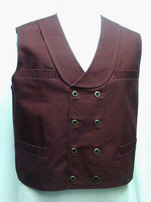 Double Breasted Burgundy Frontier Classics Old West Victorian style vest