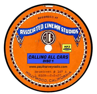 Calling All Cars (301 Shows) Otr Mp3 4-Cd's