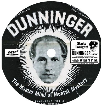 Dunninger, The Mentalist (7 Shows) Old Time Radio Mp3 Cd