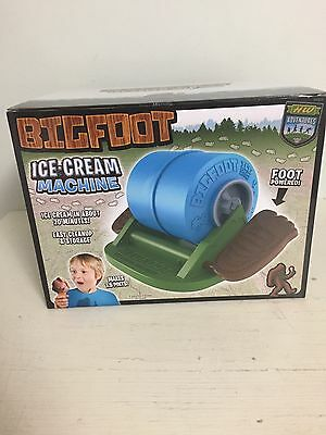 New Big Foot Ice Cream Machine Man Powered Maker Picnic Outdoors Camping Boating