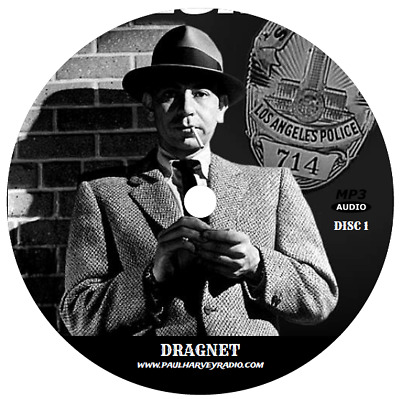 Dragnet (380 Shows) Old Time Radio Mp3 5 Cd's