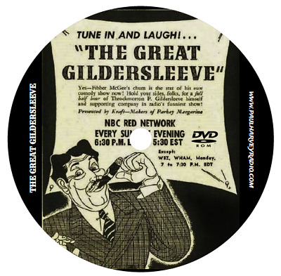 Great Gildersleeve (510 Shows) Old Time Radio Mp3 Dvd