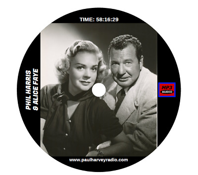 PHIL HARRIS & ALICE FAYE (126 SHOWS) OLD TIME RADIO MP3 2-CD's