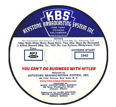 You Can't Do Business With Hitler (12 Shows) Otr Mp3 Cd