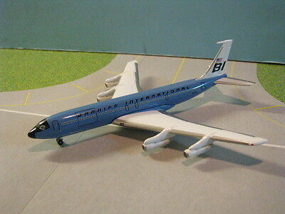 "Gemini Jets Braniff ""dark Blue Jellybean"" 707-327C 1:400 Scale Diecast Model"