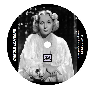 Carole Lombard Collection (11 Shows) Old Time Radio Mp3 Cd