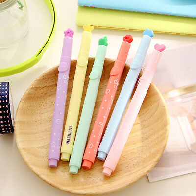 Candy Color Highlighter Fluorescent Marker Pen Twin Tip School Kids Office New