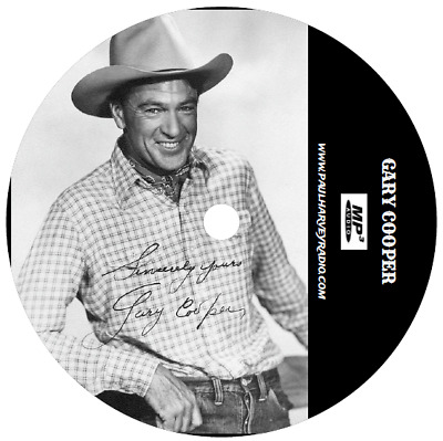 Gary Cooper Old Time Radio Collection (10 Shows) Mp3 Cd