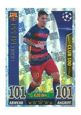 TOPPS Champions League - 498 - Lionel Messi - 100 Club