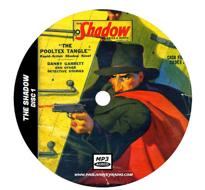 The Shadow (250 Shows) Old Time Radio Mp3 3-Cd's