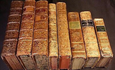 Lot of 7 Books - Dictionaries – 1700/1800s