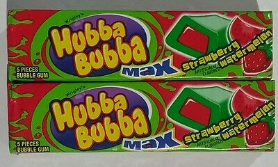 2x Hubba Bubba Max Strawberry Watermelon (5 pieces in each pack)