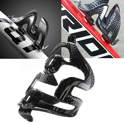 Carbon Fiber Bicycle Cycling Glass Water Bottle Holder Rack Cage Road MTB Bike L