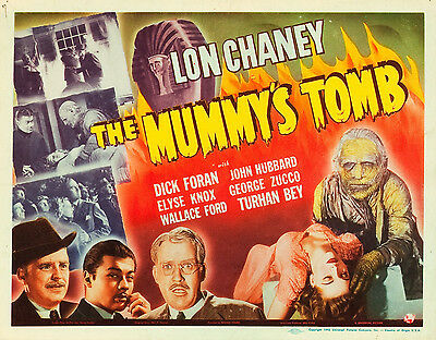 The Mummy's Tomb 11 X 14  Title Lobby Card LC  Lon Chaney