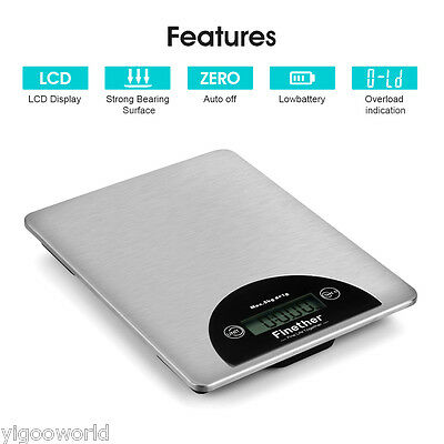 5KG/11LBS Electronic LCD Digital Kitchen Scale Diet Food Postal Weight Balance