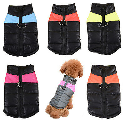 Tractive Cat Dog Vest Small Pet Puppy Cotton Clothes Shirt Coat Winter Costume