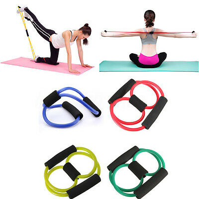 ABS Resistance Band Yoga Pilates Estensibile Stretch Fitness Tubo Elastico