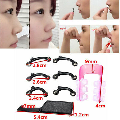 1Set 3Sizes Nose Up Lifting Shaping Clip Clipper Tool strumento+Red rosso Shaper