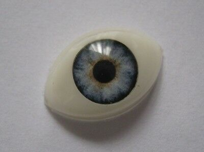 Reborn doll eyes 14mm Half oval  HEAVENLY BLUE