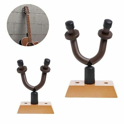 Wall Mount Guitar Hanger Flanger Guitar Solid Wood Base Hook Holder Mount Stand