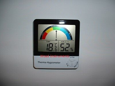 Digital Lcd Coloured Dial Min Max Temperature & Humidity Hygrometer Thermometer