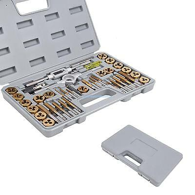 40Pc Titanium Coated Metric&SAE Ratcheting Tap and Die Set Standard w/ Case