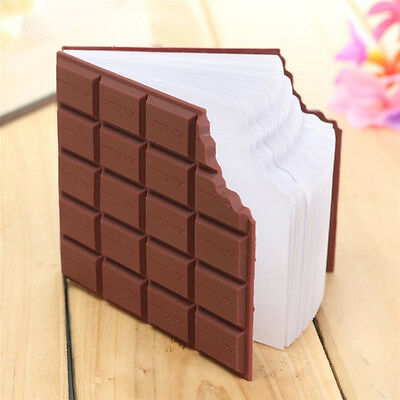 Scented Chocolate Shape Blank Page Small Notebook Pocket Memo Pad Notepad Gift