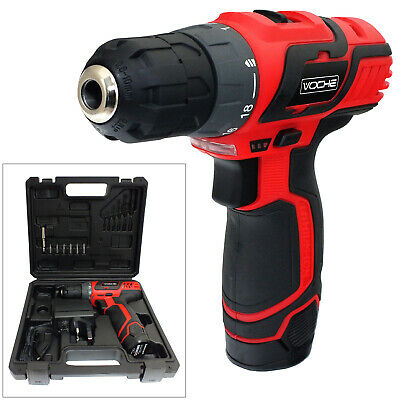 12V Lithium-Ion Cordless Rechargeable Power Drill Driver Electric Screwdriver